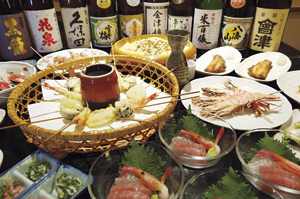 ▲宴会コースの絶品料理をご堪能ください。