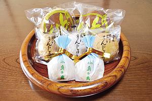 """▲口のなかに広がる懐かしい甘さの和菓子。"""""""