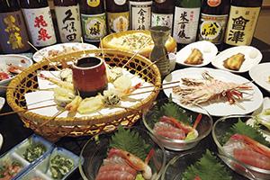 """▲宴会コースの絶品料理をご堪能ください。"""""""