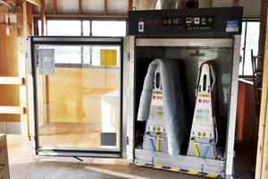 ▲福島市内には数少ないふとん乾燥機。