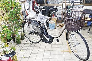 ▲電動アシスト自転車で運転が楽になります。