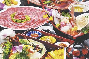 ▲新鮮なお魚をメインとした自慢のコース料理。