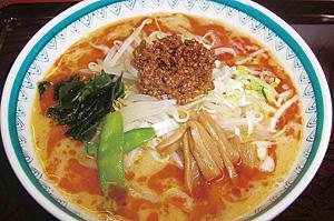▲ごまの風味がとても香ばしい担々麺。
