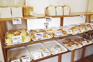 ▲店内は香ばしいパンの香りでいっぱいです。