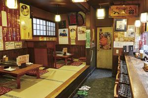 ▲店内はカウンター席とお座敷を用意しています。
