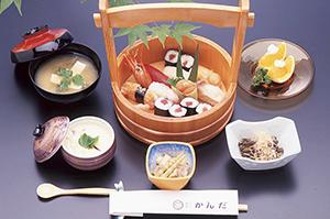▲新鮮味が売りの寿司料理をぜひ。