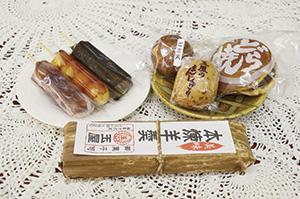 """▲甘さひかえめで口当たりのやさしい和菓子。"""""""