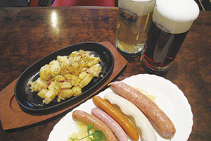 """▲生ビールにピッタリの料理で舌つづみ。"""""""